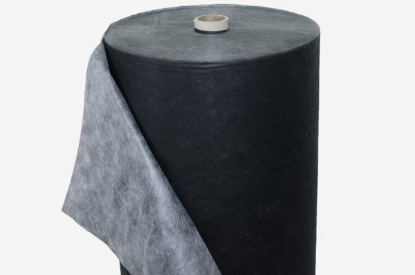 netkaná textília čierno-biela