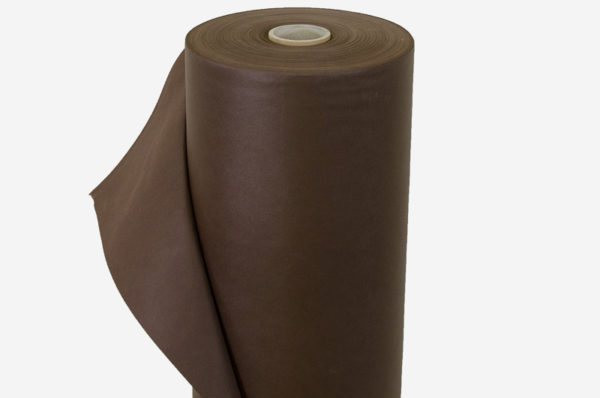 netkaná textília hnedá kotúč