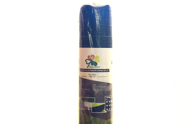 Tkaná textília čierna s otvormi pre výsadbu, 100g/m², 1x100m, typ A