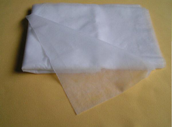 poskladaná netkaná textília