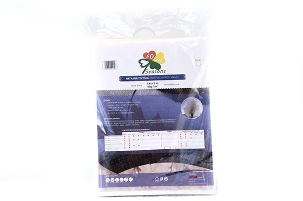 UV Netkaná textília biela 50g/m² 1,6m x 5m