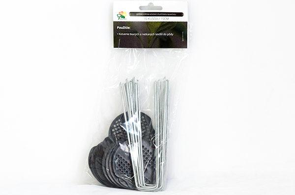 Kotviaca spona kovová 15 cm s plastovou hlavičkou, 10 ks v balení