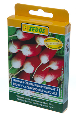 Reďkovka červeno-biela podlhovastá Slovana, výsevný pásik 5 metrov