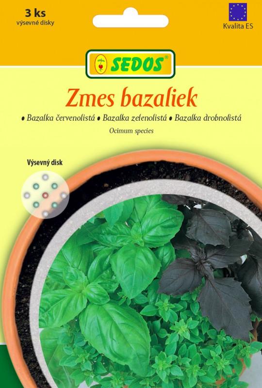 Zmes bazaliek : bazalka červenolistá, bazalka zelenolistá, bazalka drobnolistá