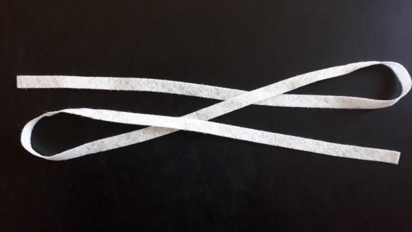 Pásik z netkanej textílie 130 g/m², 1 kartón = 3 500 ks, cena za kus 0,1755 Eur bez DPH