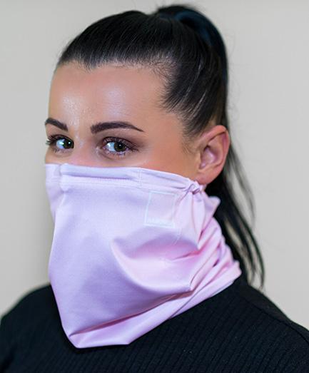 Antivírusová šatka s vymeniteľným filtrom z nanovlákna, farba ružová